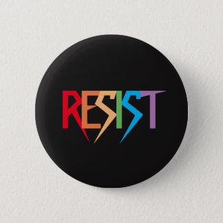 El arco iris colorido resiste el botón