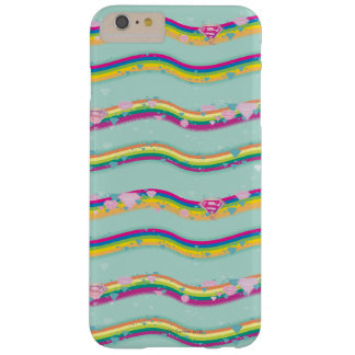 El arco iris de Supergirl agita verde Funda Barely There iPhone 6 Plus