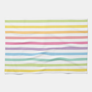 El arco iris del color en colores pastel raya el toallas de mano