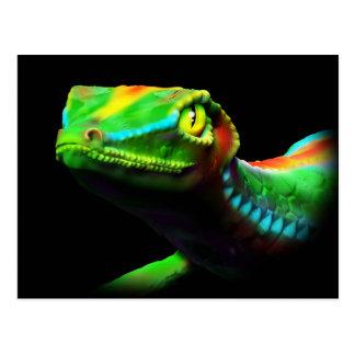 El arco iris del lagarto del Gecko colorea las pos Postal