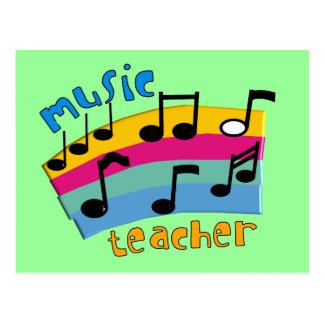 El arco iris del profesor de música observa los postal