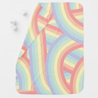 El arco iris en colores pastel moderno lindo raya manta de bebé