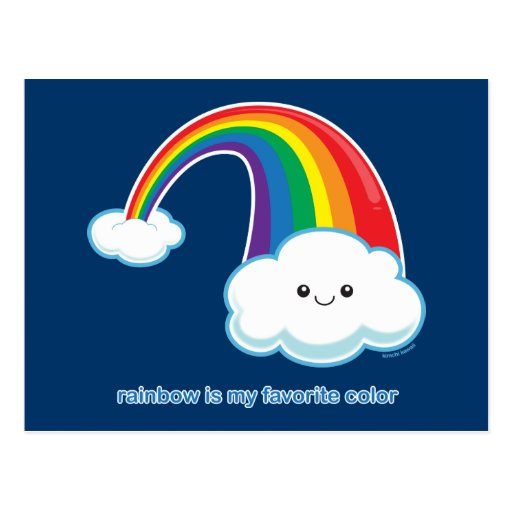 El arco iris es mi color preferido postal