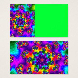 El arco iris floral asperja tarjetas de visita