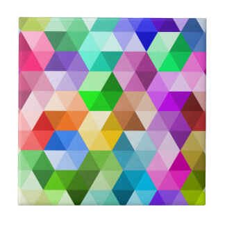 El arco iris geométrico colorea la baldosa