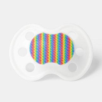 El arco iris ondula el pacificador chupetes de bebé