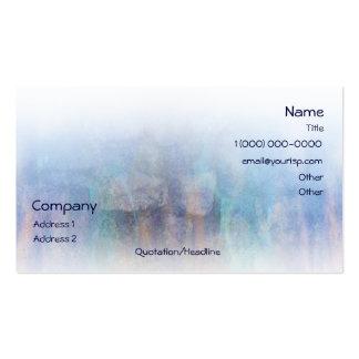 El arco iris oscila la tarjeta de visita azul