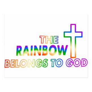 El arco iris pertenece a dios postal