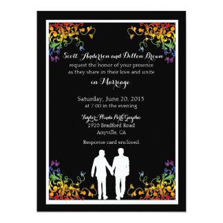 El arco iris prospera invitaciones gay del boda invitación 16,5 x 22,2 cm