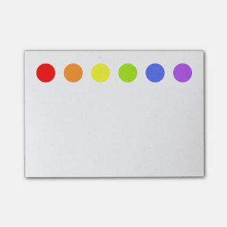 El arco iris puntea notas