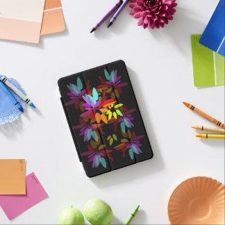 El arco iris radiante colorea eufórico floral cover de iPad mini