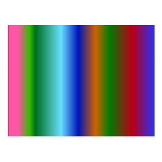 El arco iris raya azulverde rojo de los colores postal