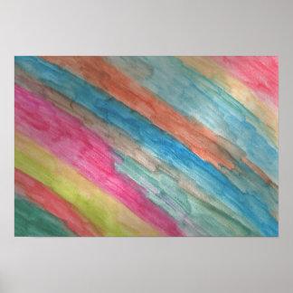 El arco iris raya el poster abstracto del arte de