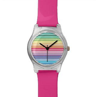 El arco iris raya el reloj de May28th