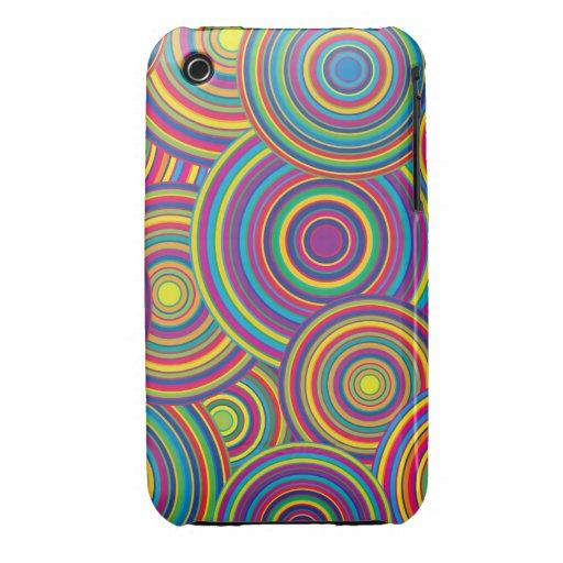 El arco iris retro circunda el modelo iPhone 3 Case-Mate carcasa