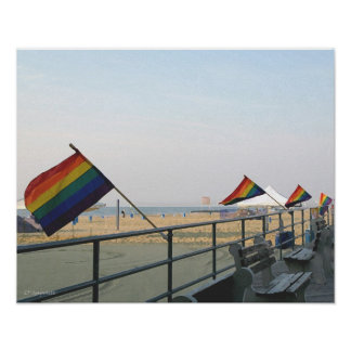 El arco iris señala el parque NJ de Asbury por med Póster