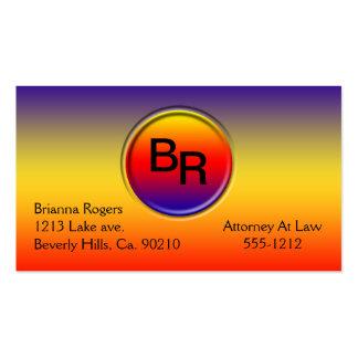 El arco iris simple y profesional colorea el botón tarjetas de visita