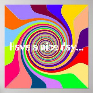 El arco iris tiene un estallido psicodélico maravi póster