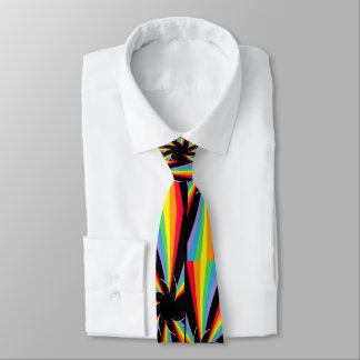 el arco iris tuerce en espiral rueda corbata