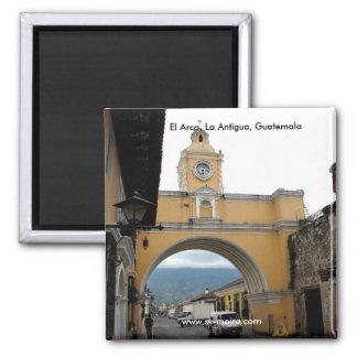 EL Arco, La Antigua, Guatemala Imán Cuadrado