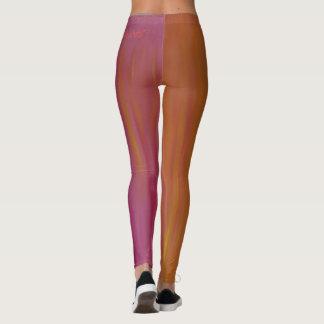 El arderse polainas de acrílico anaranjadas y leggings