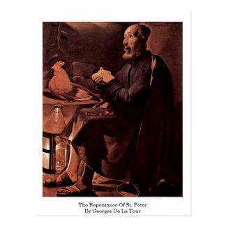 El arrepentimiento de San Pedro de Georges de La T Postales