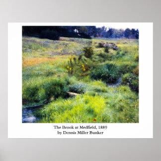 El arroyo de la arcón de Dennis Miller en Medfield Póster