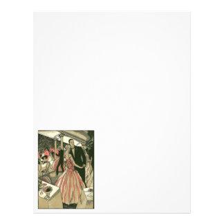 El art déco que se casa, recienes casados del folleto 21,6 x 28 cm