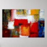 El arte abstracto moderno de la pintura imprime lo