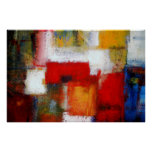 El arte abstracto moderno de la pintura imprime posters