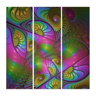 El arte abstracto moderno luminoso colorido del