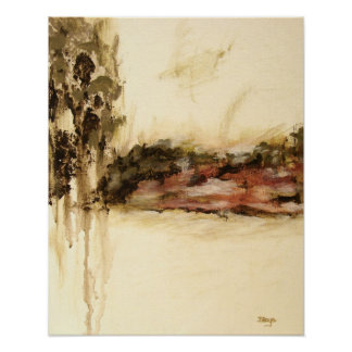 El arte ambiguo, abstracto del paisaje gotea la