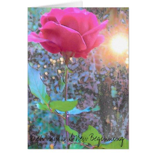 El arte color de rosa, cada día es un nuevo tarjeta pequeña