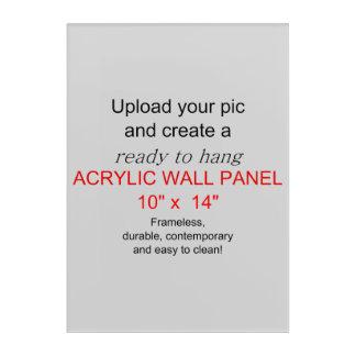 ¡El arte de acrílico 10 x 14 de la pared - añada
