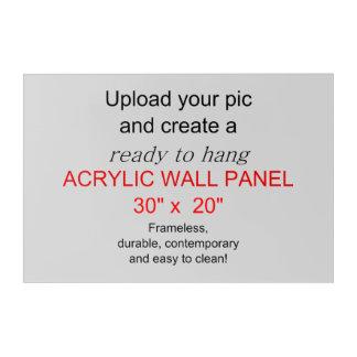¡El arte de acrílico 30 x 20 de la pared - añada