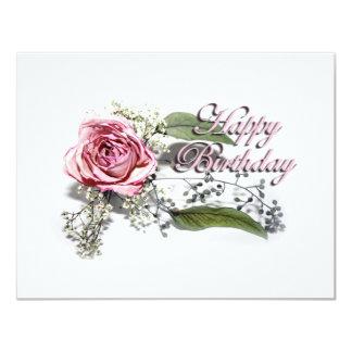 El arte de envejecer agraciado - cumpleaños de la invitación 10,8 x 13,9 cm