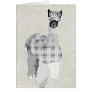 El arte de la alpaca le agradece cardar tarjeta de felicitación