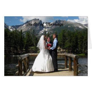 El arte de la boda tarjeta de felicitación