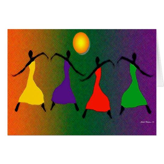 El arte de la danza tarjeta de felicitación