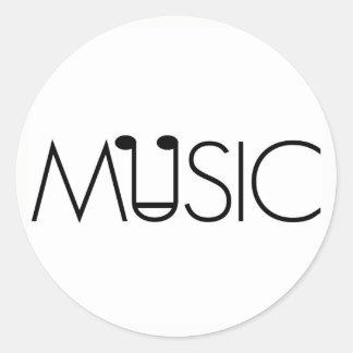 el arte de la música diseña al pegatina neutral