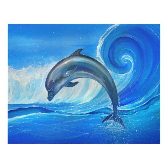 El arte de la pared del delfín imprime pinturas