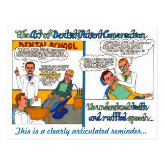 El arte de las conversaciones del dentista y del postal
