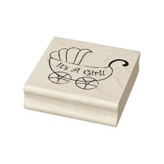El arte de madera Stamps/It es un chica con el Sello De Goma