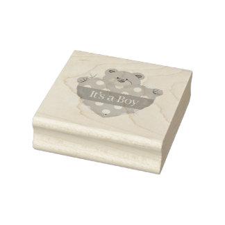 El arte de madera Stamps/It es un muchacho con el Sello De Caucho