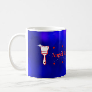 El arte del ángel y cuece la taza