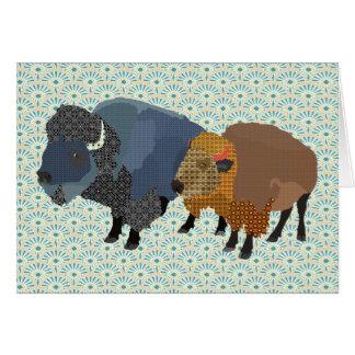 El arte del búfalo le agradece cardar tarjeton