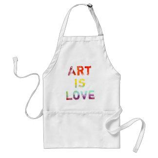 El arte es amor delantal