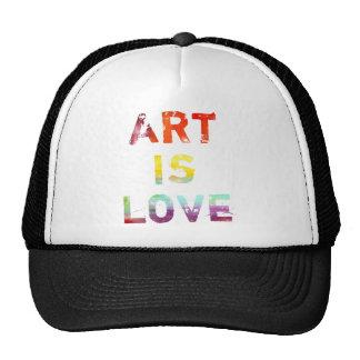 El arte es amor gorras
