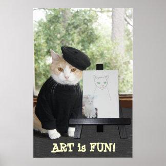 El ARTE es CAT de la DIVERSIÓN Impresiones