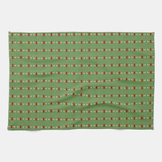 El arte tradicional del canal florece teatowels toalla